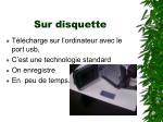 sur disquette