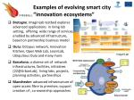 examples of evolving smart city innovation ecosystems