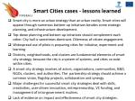 smart cities cases lessons learned
