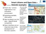 smart citizens and open data helsinki examples