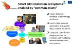 smart city innovation ecosystems enabled by common assets