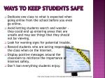 ways to keep students safe