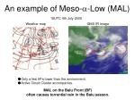 an example of meso low mal
