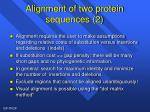 alignment of two protein sequences 2