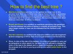how to find the best tree