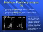 maximum parsimony analysis 4