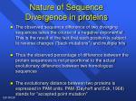 nature of sequence divergence in proteins