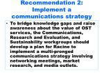 recommendation 2 implement a communications strategy