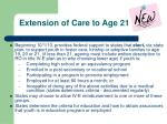extension of care to age 21