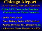chicago airport 1st year of study of public aed deployment