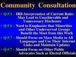 community consultation1
