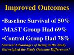 improved outcomes