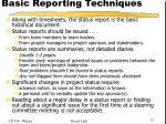 basic reporting techniques1