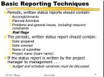 basic reporting techniques2