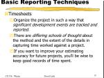 basic reporting techniques6