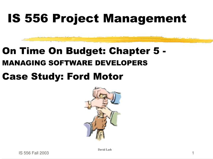 is 556 project management n.