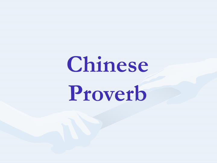 chinese proverb n.