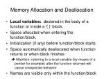 memory allocation and deallocation1