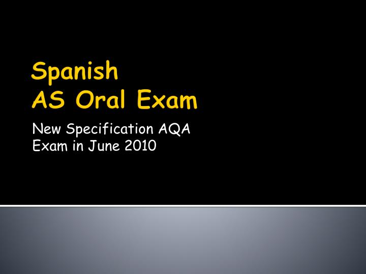 new specification aqa exam in june 2010 n.