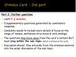 stimulus card 2nd part