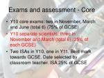 exams and assessment core