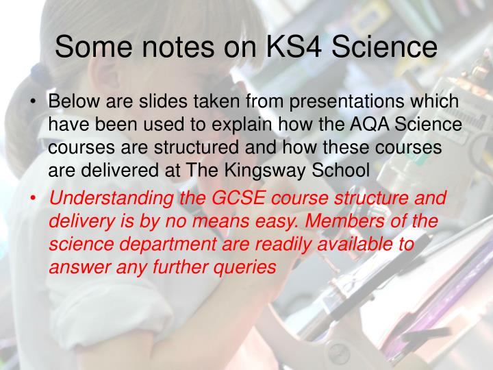some notes on ks4 science n.