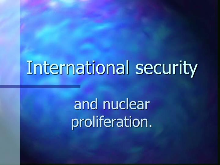 international security n.
