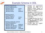 example schema in odl