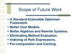 scope of future work