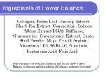 ingredients of power balance