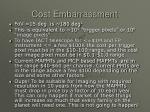 cost embarrassment