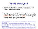 ast m antibiyotik