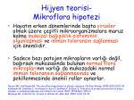 hijyen teorisi mikroflora hipotezi