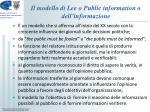 il modello di lee o public information o dell informazione1