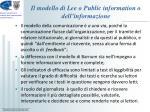il modello di lee o public information o dell informazione2