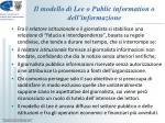 il modello di lee o public information o dell informazione3