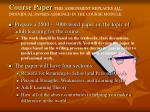 course paper this assignment replaces all individual papers assigned in the course module
