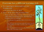 everyone has a different learning style