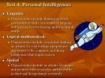 test 4 personal intelligences