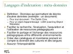 langages d indexation m ta donn es
