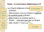 notes la conversation t l phonique p 213