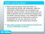 math learning space