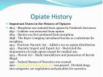 opiate history
