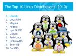 the top 10 linux distributions 2013