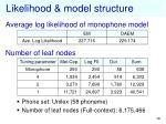 likelihood model structure