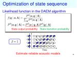 optimization of state sequence2