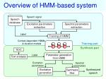 overview of hmm based system