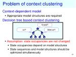 problem of context clustering