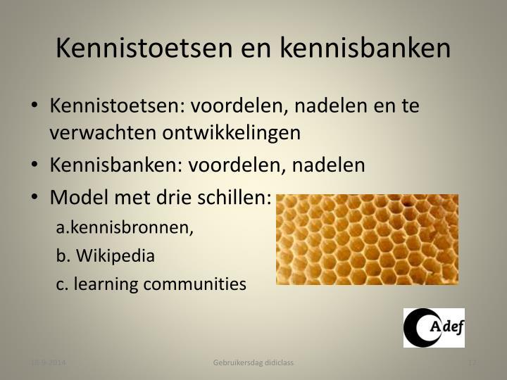 Kennistoetsen en kennisbanken