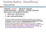 system dualny klasyfikacja odpad w